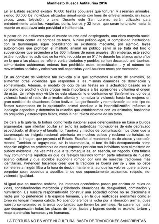 manifiesto antitaurino 2016
